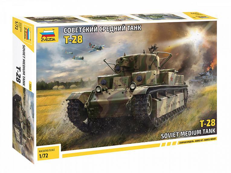 1936-40  6247 Zvezda  1:100  NEW 2020! Soviet Medium tank T-28 mod